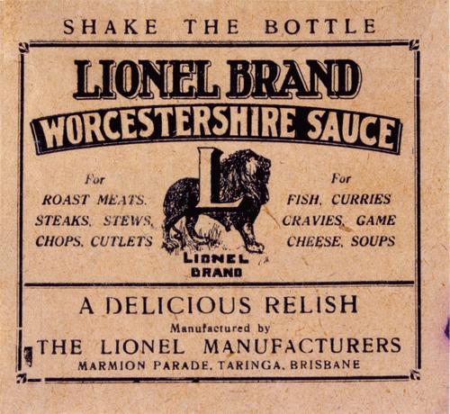lionel_brand_worcestershire_sauce_label